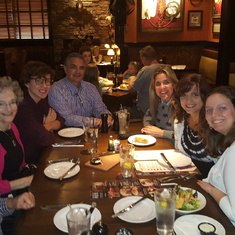 Nancy, Dan and Ash1 family dinner with Elena and Brady on his trip to Emory University in Atlanta.