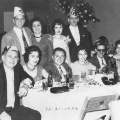 New Year's Eve 1959 - Mom and Dad are sitting on the left