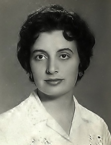 Nieves as a young woman