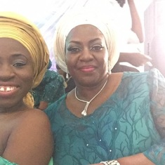 Chilling with Aunty Dolly at Deji's engagement in Jos