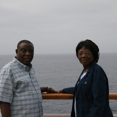 Daddy and Mom at Sea on a Cruise