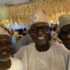 Architects, Yemi Odeinde , Olumide Esho and Ayoola Onajide at a wedding in 2020.