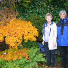Susie and Pam at the burning bush