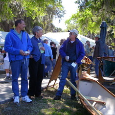 Pam and Tom at antique boat shown in Mount Dora, Florida, 2006