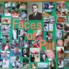 Face of Pat Photo Board Celebration of Life 3/30/19