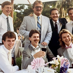 Pat at my wedding 1988 also Bill Batts Craig Colley, Jeff Smith, Kelly McManus,Ted Selogie