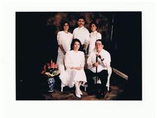The Aguado Family...Standing are the 3 children...Mari Chris, Dicky and Cathy...with Mom and Dad