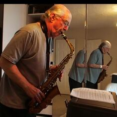 Short Video of Peter playing sax at home.