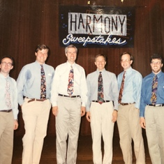 Phil persuaded The Blenders to compete in the Harmony Sweeps in Philly ('91)