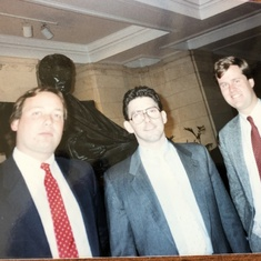 At the US Supreme Court in 1989, with Chuck Geerhart '81 and Rick Bress '82
