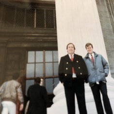 1989, in front of US Supreme Court with Chuck Geerhart '81