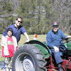 April 2001 at Hedgeley, Ardmore, PA with Cyrus & Uncle Jimmy