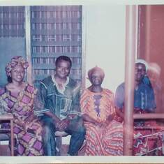Prof George with my grandmother in Calabar after the loss of my mum. (Dr. Nana George on Facebook)