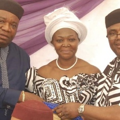 Prof. Ezugwu with Dr & Mrs Oloto at the burial ceremony of Mrs Oloto's father at Orba 25/1/2020