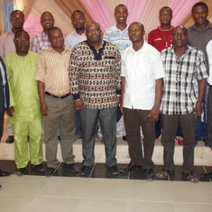 Dr. Leburn Rose (Far left) with Prof. Ezugwu at a Project Management Training for Total/Elf JV