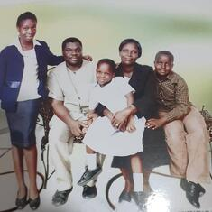 Prof and Mrs Adegoke and their children