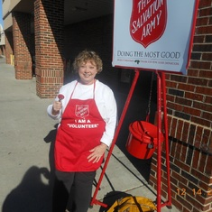 Volunteering for the Salvation Army Christmas Kettle with the West Iredell Lions Club