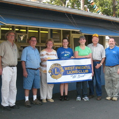Working the blue food booth with the West Iredell Lions Club at the Iredell County Fairgrounds
