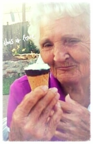 She loved her ice cream.