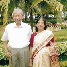 With his wife in Goa - 2009