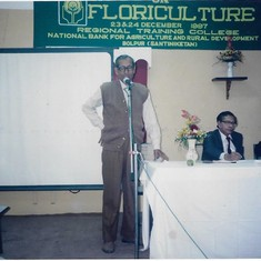 During one of his speeches