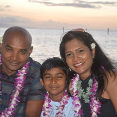 Ram and Family in Hawaii