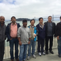 Ram with Levis team at Embarcadero