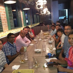 Team dinner with Ram and Levis Singapore team