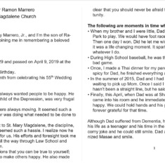 06-11-19 Ramon Marrero's Eulogy p1