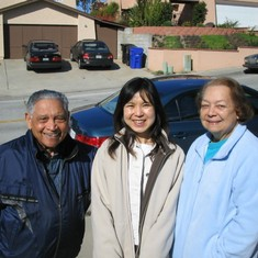 Mom and Dad with Marumi on 2/25/2006