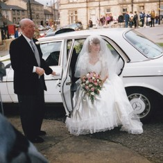 Giving away his oldest daughter on her wedding day back in 1992
