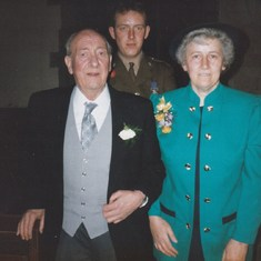 With his wife June and only son Martin on his oldest daughter wedding day in 1992