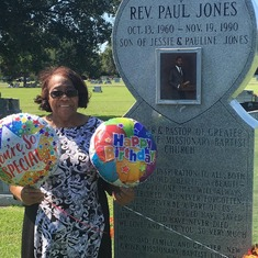 Mother Pauline wishing a Happy Birthday her famous son, Rev. Paul Jones!