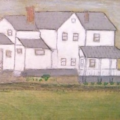 I couldn't resist adding this painting of our home where I grew up. I just love it and will cherish it always.