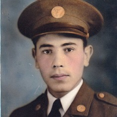 Dad in uniform at the age of 21.