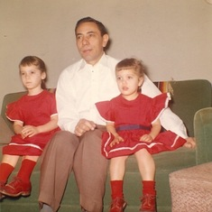 Family photo red dresses