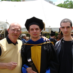 2008 John's Doctorate graduation at Vanderbilt University, USA