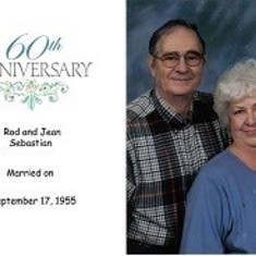 Jean and Rod were married for over 63 years