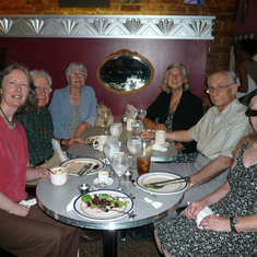 Bob with Katherine, Lisa Mundy, Pat and Harry Schwarzlander, and Julienne, June 2010