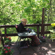 Quiet time on the deck, May 2018