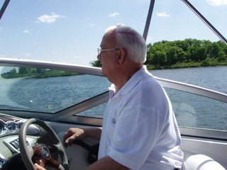 Dad on his houseboat in the Mississippi. He loved showing people the world he loved