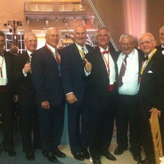 Tim C, ?, Bloom, Arnt, Burgio, Bob A, Domagala, ? -at our 50th TBS reunion