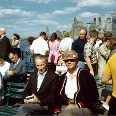 Teo & Dad NYC Ferry (Photo dated Sept 1968)