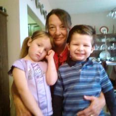 Robin with granddaughter Karlee and nephew Dylan