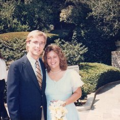Rollie and Lisa at Lori's wedding, Los Angeles CA, 1985