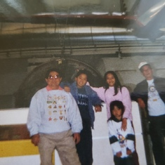 I think this was at Griffith Observatory with the nieces, nephew and Tatay.