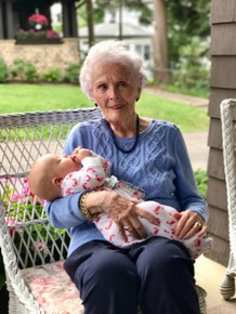 Ruth with her great-grandson, George