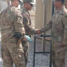 Corporal Promotion in Afghanistan