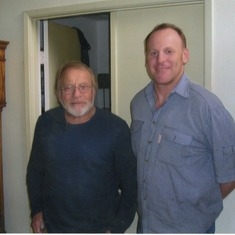 Dad and Jeff at home in 2006.