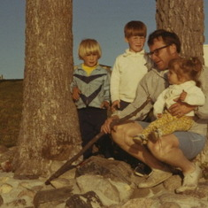 Weaver Lake, Minnesota, Fall 1969 (a rare picture of my father, as he was the photographer).